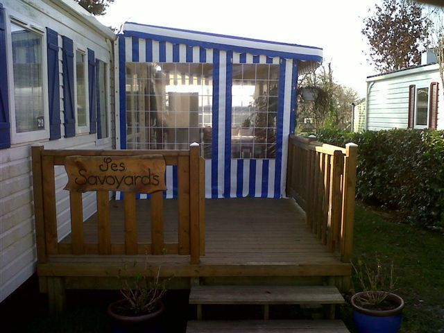 Toiles Terrasse Mobil Home